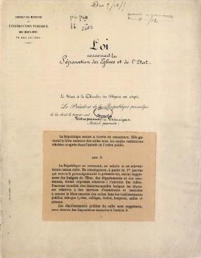 fac-similé loi de 1905